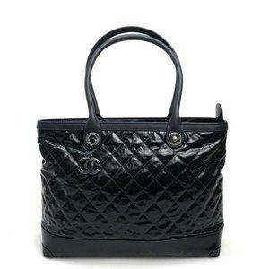 CHANEL CC Matelasse Tote Bag Shoulder Bag Black/Da